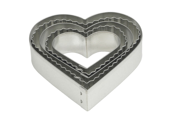 Mrs Anderson's Crinkle Heart Cookie Cutter – Set of 5