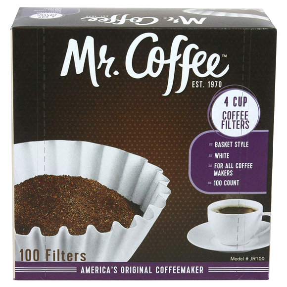 Mr. Coffee 4 Cup Basket Coffee Filters – 100 Count