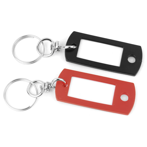 Keychain ID Tag with Swivel Keyring – 2 Pack