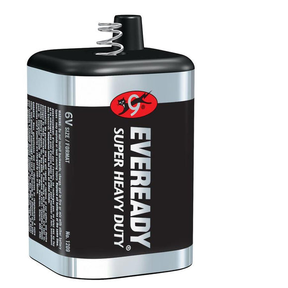 Eveready Heavy Duty 6 Volt Spring Top battery