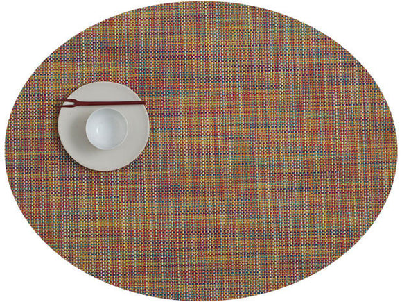 Chilewich Mini Basketweave Oval Placemat – Confetti