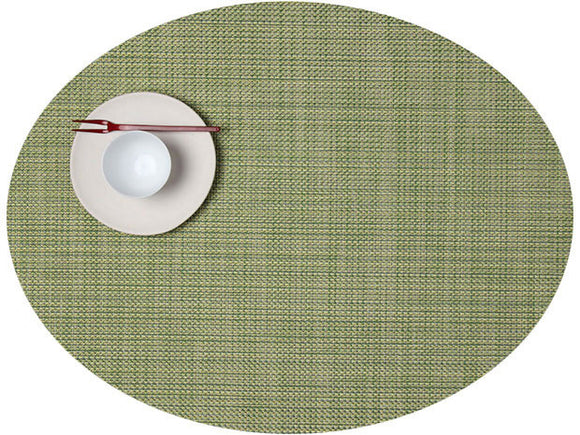 Chilewich Mini Basketweave Oval Placemat – Dill