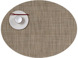 Chilewich Mini Basketweave Oval Linen Placemat
