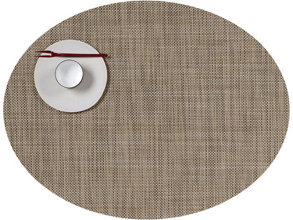 Chilewich Mini Basketweave Oval Placemat – Linen