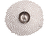Chilewich Dahlia Gunmetal Placemat