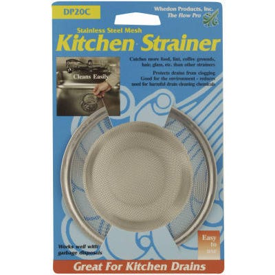 Mesh Kitchen Strainer with Chrome Ring – Stainless Steel