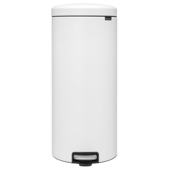 Brabantia Pedal Bin Trash Can – White – 8 Gallon