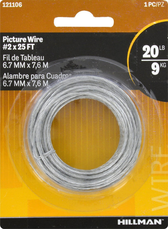 Hillman 20lb Steel Picture Wire - 25ft