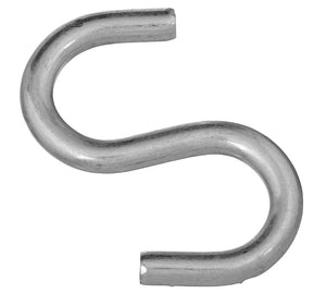 Zinc Plated Open S Hook – 3""