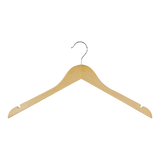 Wood Shirt Hanger, Natural Finish, Set of 6