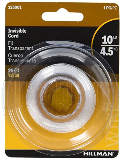 Hillman 10lb Invisible Cord Picture Wire - 25ft