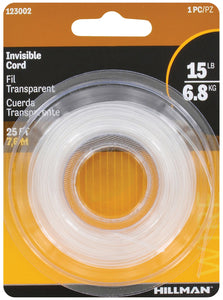 Hillman 15lb Invisible Cord Picture Wire - 25ft