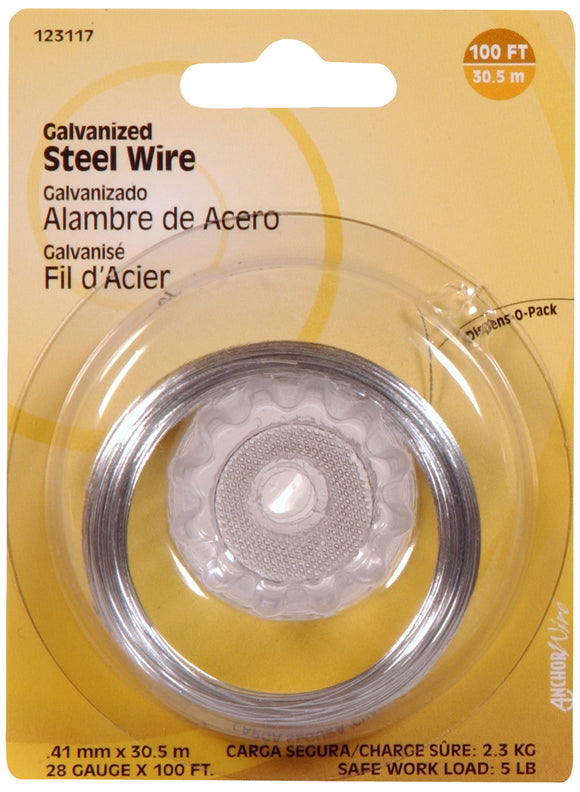 Hillman 5lb Galvanized Steel Picture Wire - 100ft