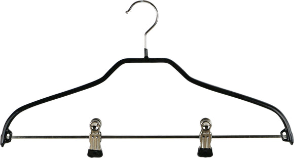 Reston Lloyd Silhouette Pant Bar Black Hangers with Two Clips – 15
