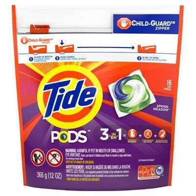 Tide Laundry Detergent Pods – Spring Meadow Scent – 16 Count