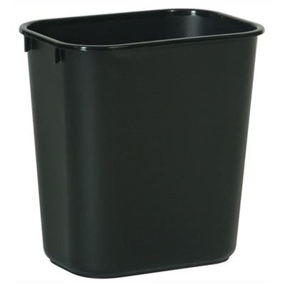 Rubbermaid Office Rectangle Wastebasket – Black – 13-5/8-Qts.