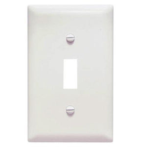 Single Toggle Wall Plate – White