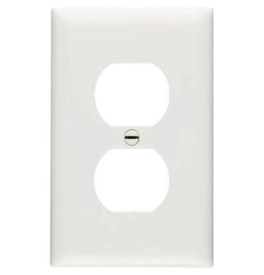 Duplex Outlet Wall Plate – White