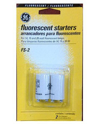 Fluorescent Starter FS-2 For 14, 15, & 20-Watt Lamps – Pack of 2