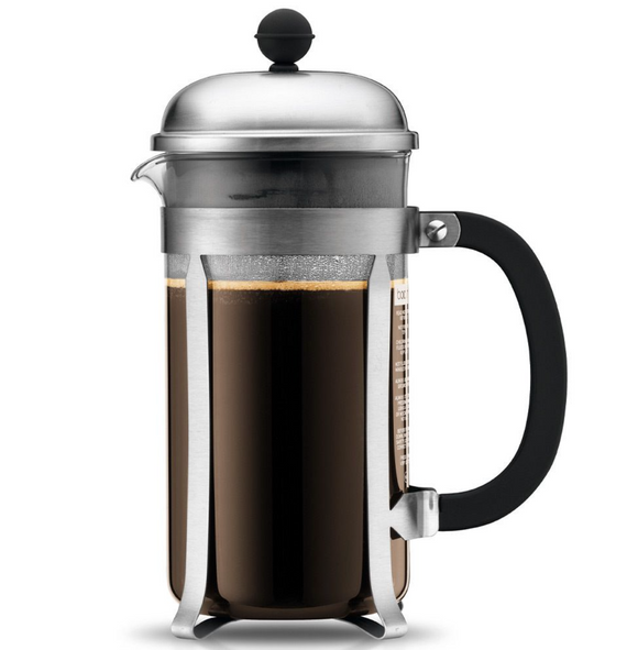 Bodum Chambord French Press Coffee Maker – 12 Cup – Chrome