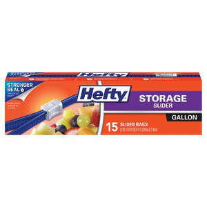 Hefty Slider Storage Bags Gallon, 15 Count
