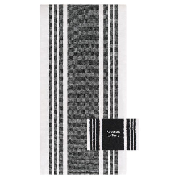All-Clad Striped Dual Kitchen Towel – Black