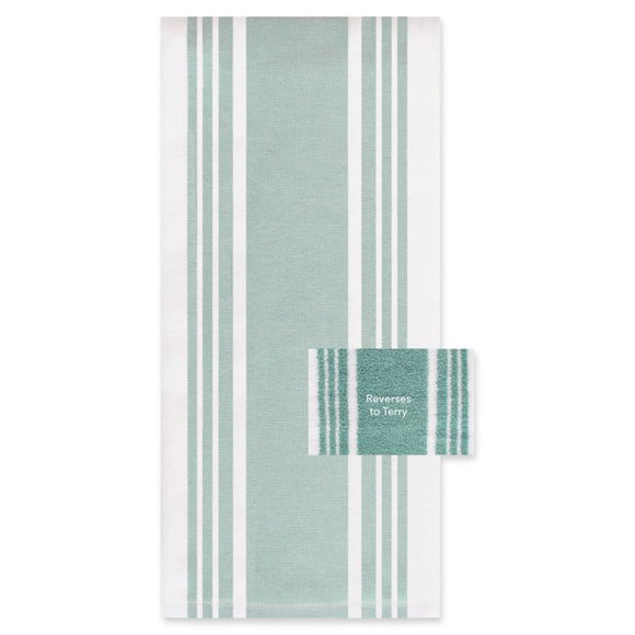 All-Clad Striped Dual Kitchen Towel – Rainfall