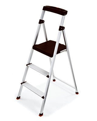 Rubbermaid Aluminum Step Ladder – 3 Step – 4.25Ft