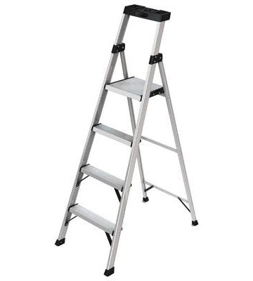 Rubbermaid Aluminum Step Ladder – 4 Step – 5.5Ft