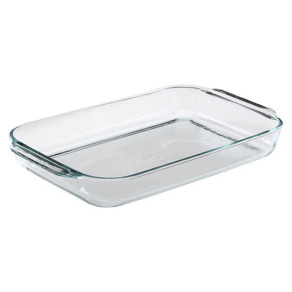 Pyrex Easy Grab Oblong Baking Dish, 4.8 Qt