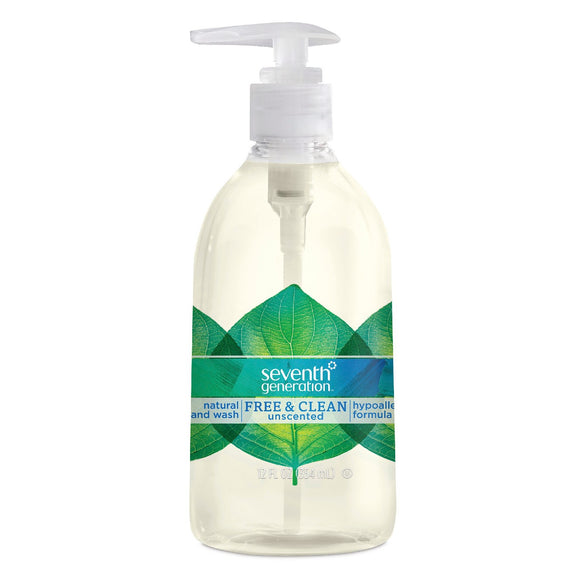 Seventh Generation Natural Hand Wash - Free & Clean unscented 12oz