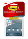 Command Clear Round Cord Clips – Pack of 10