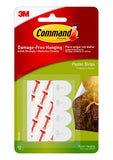 Command Damage-Free Poster Strips – Pack of 12