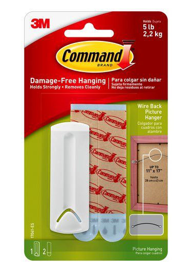 Command Damage-Free Wire Back Picture Hanger – 5lb