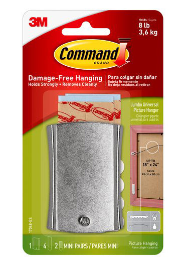 Command Damage-Free Jumbo Universal Picture Hanger – 8lb