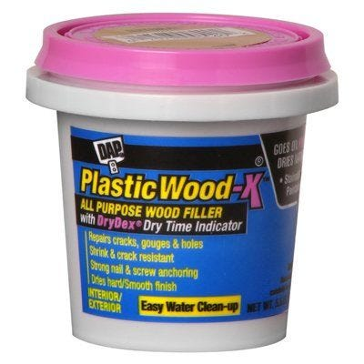 Plastic Wood-X Stainable Wood Filler with DryDex Dry Time Indicator – 5.5oz