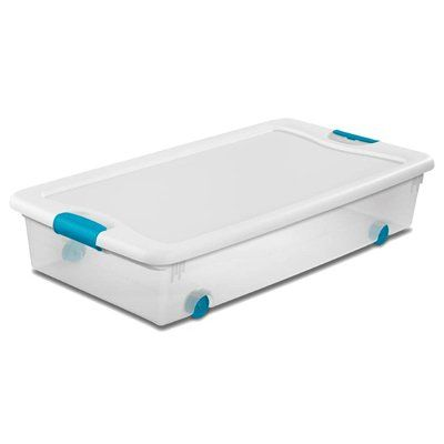 Sterilite 56 QT Latching Storage Box – Wheeled