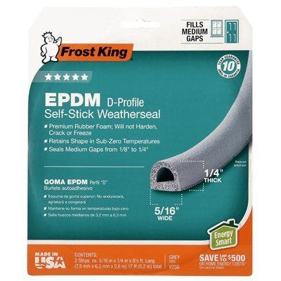 Frost King Extreme Rubber Weatherseal Tape – 5/16