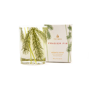 Thymes Frasier Fir Poured Candle with Needle Deco – 2oz