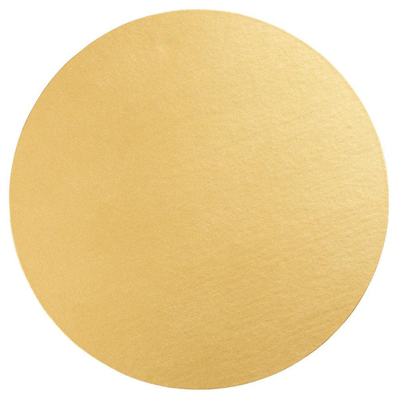 Luster Felt-Backed Round Placemat – Gold