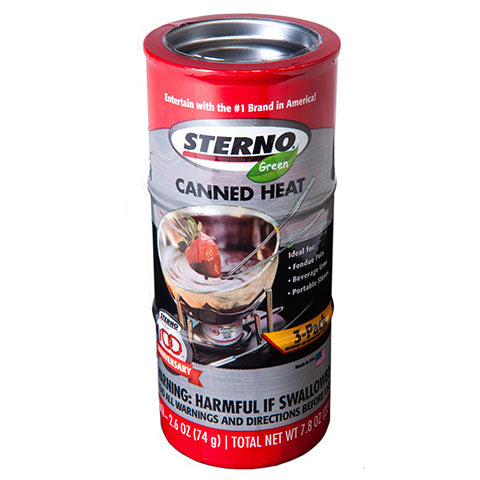 Sterno Entertainment Cooking Fuel, 2.6 oz, 3 PK