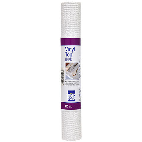 Magic Cover Vinyl Top Non-Adhesive Shelf Liner – 12
