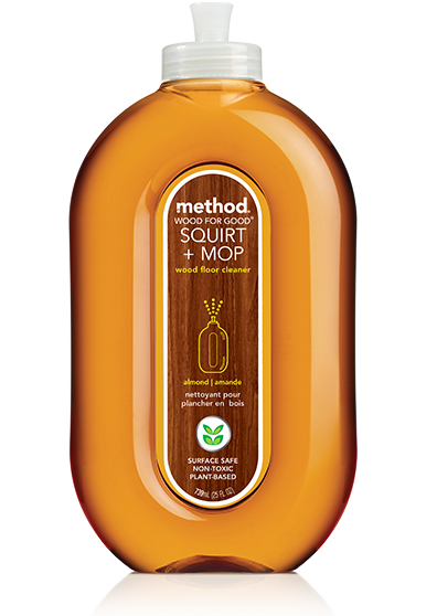 Method Squirt + Mop Wood Floor Cleaner - Almond 25oz