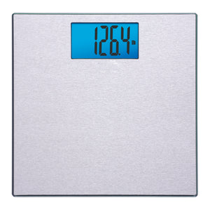 Digital Step-On Bath Scale – Textured Stainless