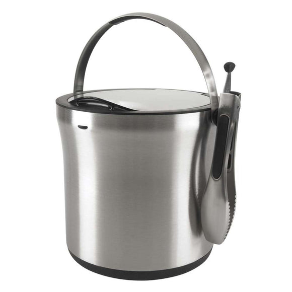 OXO Steel Ice Bucket & Tong Set