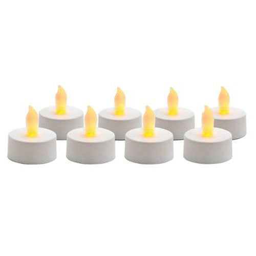 Battery Operated Flameless Tealights – 8pk