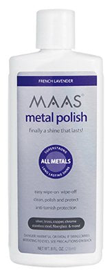 MAAS Metal Polish Liquid, French Lavender, 8 oz