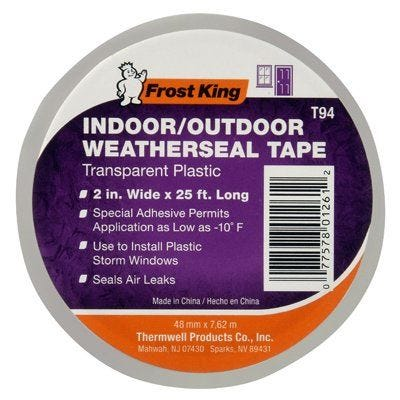 Frost King Clear Plastic Window Weatherseal Tape – 2