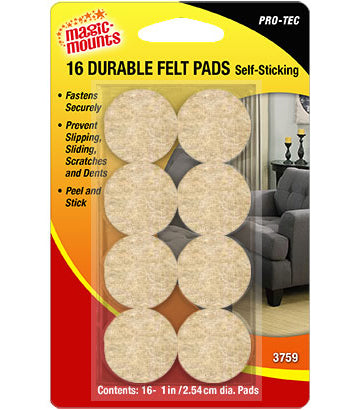 Magic Mounts Pro-Tec Durable Felt Pads – 1″