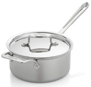 All-Clad D5 Brushed Stainless Steel Saucepan With Lid– 3 QT